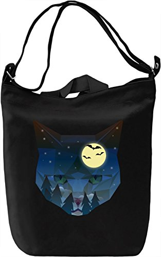 Night kitty Borsa Giornaliera Canvas Canvas Day Bag| 100% Premium Cotton Canvas| DTG Printing|