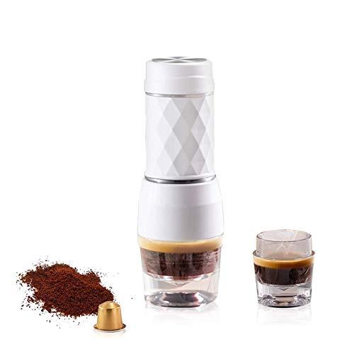 PHLPS Maker de Espresso portátil, Fabricante de café Espresso Manual, con vainas de nespresso y café molido, cafetera…