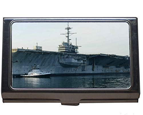 (Credit Card Case/ID Case,Aircraft Carrier USS Ranger Business Credit ID Card Holder)