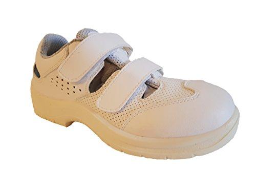 Safe Way Safeway Sicherheitsschuhe Medizinschuhe Sandale Küche Pflege Gastronomie S1 Weiß