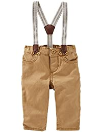 Baby Boys' Denim Suspender Pants