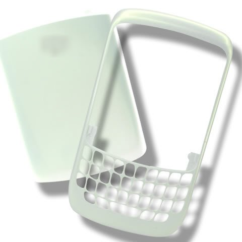 Blackberry Curve 8520 Cover - White Face Faceplate Front+Back Housing Battery Cover For BlackBerry Curve 8520 8530