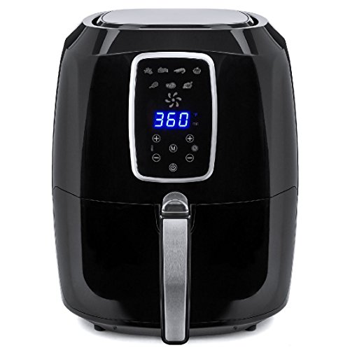 5.2L Extra Large Capacity Digital Air Fryer W/ LCD Screen and Non-Stick Coating by BEC