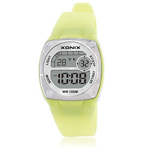 Niña Reloj led,100m resistente al agua Relojes digitales Luminoso Con reloj de alarma 24 horas Cronómetro Piscina...