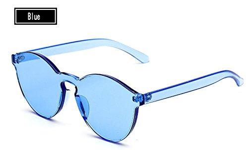 Vintage Gafas de Gafas Sunglasses Mujer de Hombre de Amarillo Caramelos Mujer TL Sol Sol Color del blue Gafas wzIvExRq