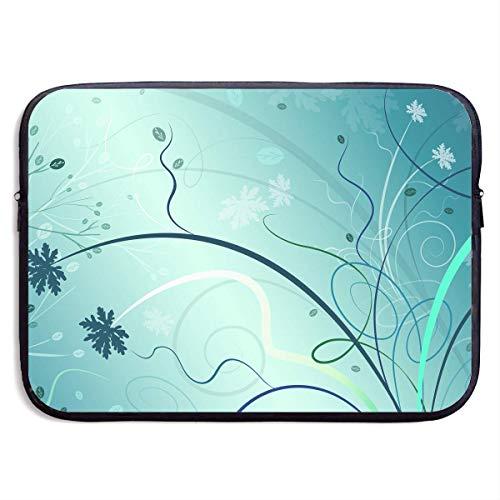 CHJOO Laptop Sleeve Bag Abstract Plants Flower Art 13/15 Inc