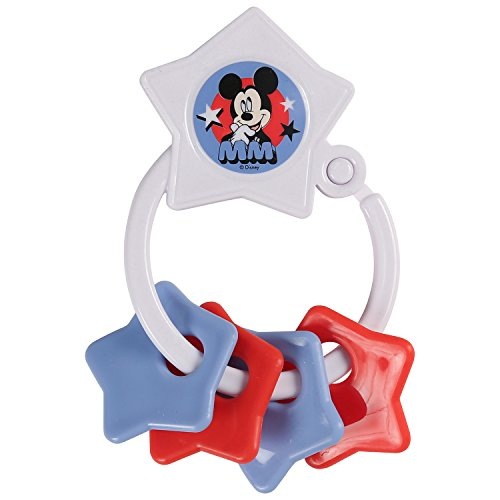 Disney Mickey Mouse Star Shape Keyring Teether ()