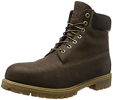 Timberland Men's Brown Burnished Full Grain Heritage 6 Premium Boot 7 2E US