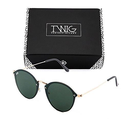 de Oscuro espejo Bronce degradadas Gafas TWIG Verde mujer sol FRIDA aAwfHq