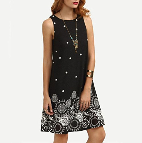 Robe Mousseline Casual Noir rond col d't Sans Jupe Dbardeur robes de lgant Party Cocktail Sleeveless Solide manches Soire Gilet Dress Femmes Moonuy Vintage Femmes Princesse Soie pour FEnUW5Tw7