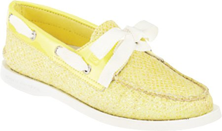 Sperry Top-sider Donna A / O 2 Occhi Lime Glitter / Patent