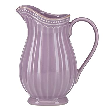 Lenox French Perle Groove Pitcher, Mini, Violet