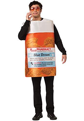 Rasta Imposta Blue Dream Marijuana Pot CBD RX Bottle Costume Mens Womens Outfit
