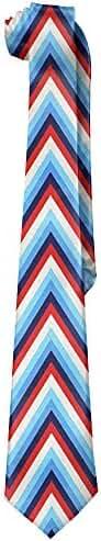 Neon Lights American Gentleman Tiny Tie Mens Polyester Silk Wide Ties National Bow Tie Day