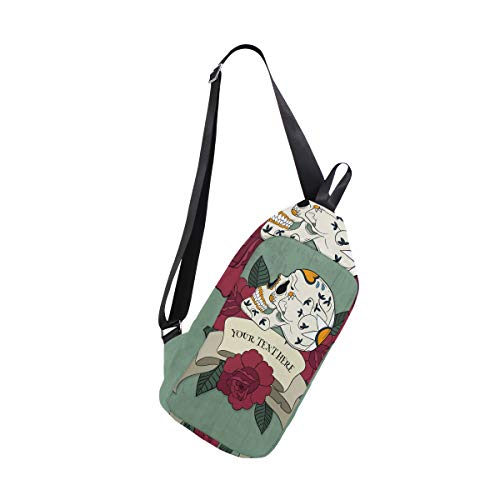 Sugar Bennigiry Body For Shoulder Chest Women Waterproof Small Bag amp; Mexican Cross Sling Backpack Men Skull v5qvwr