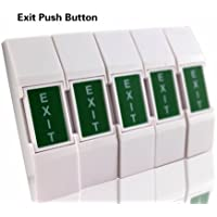 Mini Plastic Exit Button Exit Switch Push Button Push To Exit For Door Access Control System(Pack of 5)