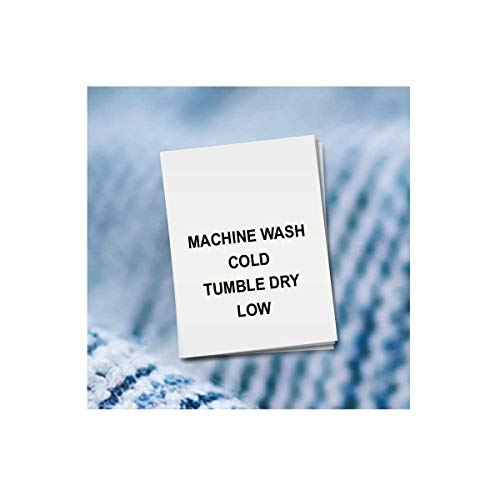 100 PRINTED GARMENT LABELS, Care Labels (Machine Wash Cold)