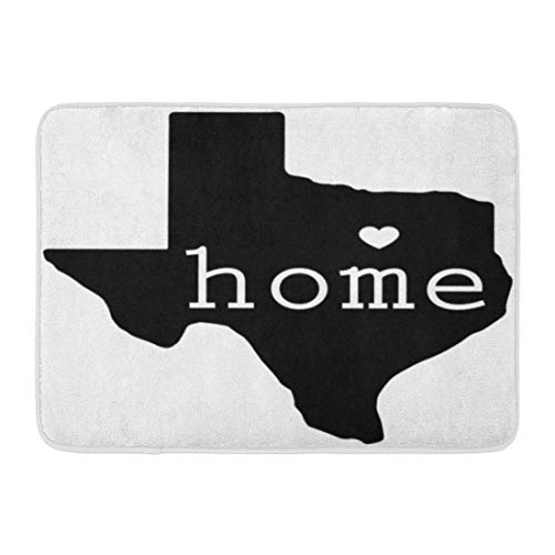 Mat Cowboys Door Dallas Rug (Emvency Doormats Bath Rugs Outdoor/Indoor Door Mat Blue Shape Home State of Texas Red Dallas Southern Star Texan Border Bathroom Decor Rug 16