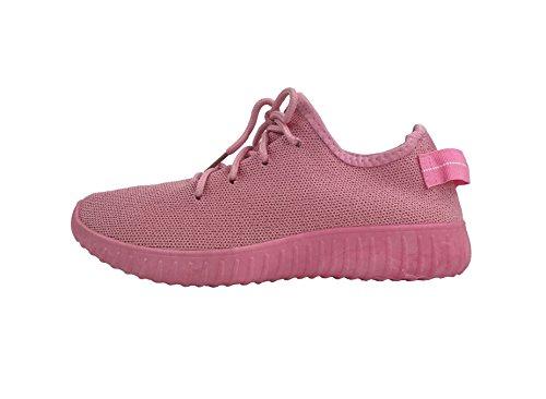 Die athletischen Schuhe der Sammlungs-Jill-Frauen beiläufige Art- und Weisebreathable Maschen-Turnschuhe Rosa