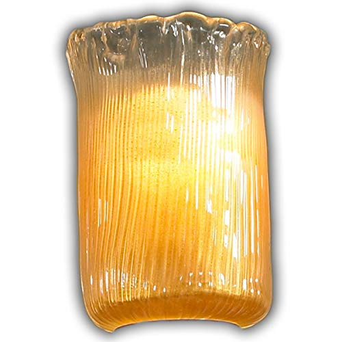 Dark Bronze Justice Design Group Lighting GLA-8791-16-GLDC-DBRZ-LED1-700 Veneto Luce-Sabre 1-Light Wall Sconce-Cylinder with Rippled Shade Gold with Clear Rim-LED