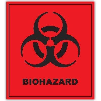 [해외]BIOHAZARD 위험 경고 기호 스티커 데 칼 4 x 5/BIOHAZARD Danger Warning sign sticker decal 4  x 5