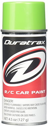 Duratrax Polycarbonate Radio Control Vehicle Body Spray Paint, 4.5 Ounces, Lime - Air Hobbico