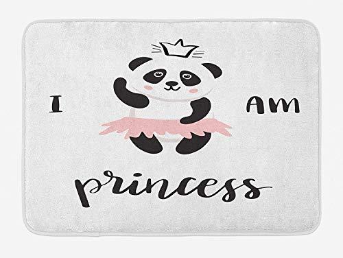 ZKHTO I am a Princess Bath Mat, Funny Ballerina Panda Bear Dancing in Pink...