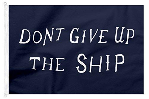 100% Cotton Canvas, Don't Give Up The Ship Flag, Made in USA (2' x 3' ft) (Cotton Framing Canvas)