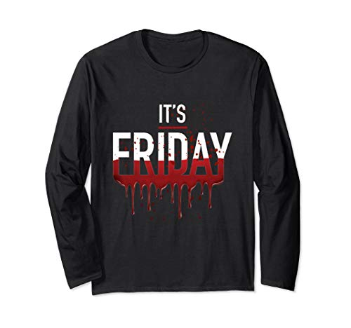 It's Friday Funny Horror Halloween Gifts Costume Idea Long Sleeve ()