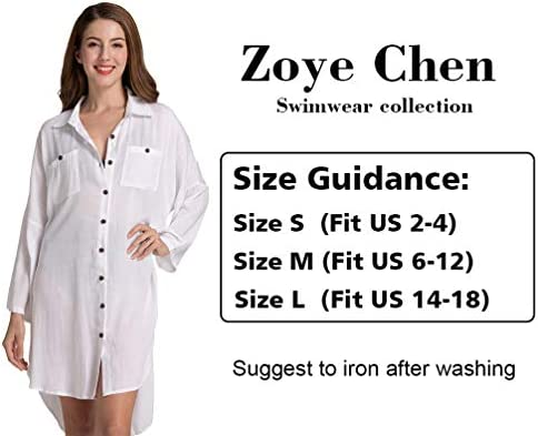 Women's Swimsuit Cover up,Silky Button Down Shirt Midi Dress Kimono,Summer Bathing Suit Beach Coverups for Women (CP-Aline)