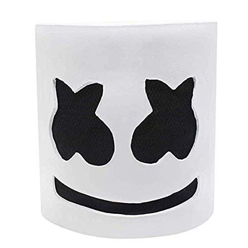 Lucky Lian Marshmallows Mask DJ Full Head Helmet Music Festival Halloween -