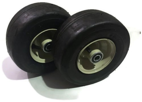 Set of 2 New Deck Caster Wheels and Tires for Some Grasshopper Mower Deck 9x3.50x4 603971 403800