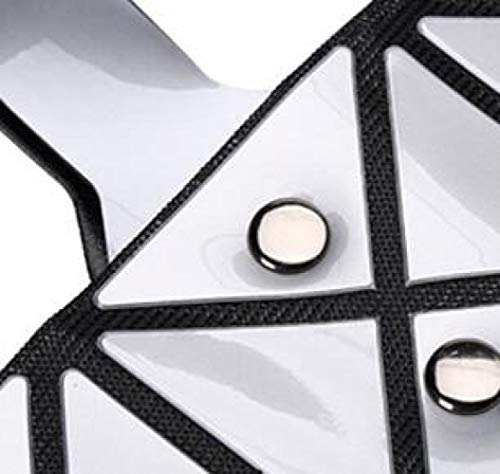 Del Creativo Mochila Simple Estudiante Geométrico Black Láser Lingge Bolso Mensajero Embrague Plegable 4Snxwq