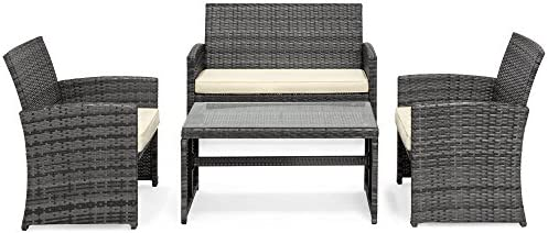 patio, lawn, garden, patio furniture, accessories, patio furniture sets,  dining sets 5 picture Best Choice Products 4-Piece Wicker Patio Furniture promotion