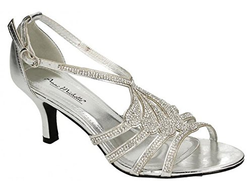 Anne Michelle Ann Michelle Womens Synthetic Leather Sandals Silver zWz9so