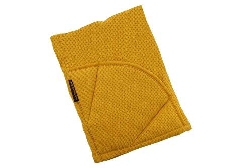 Rachael Ray Multifunctional 2-in-1 Moppine, Ultra Absorbent Kitchen Towel & Heat Resistant Pot Holder, Mustard