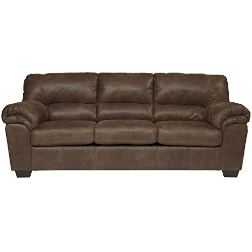 Flash Furniture Signature Design by Ashley Bladen Sofa in Coffee Faux Leather (Reception Leather Faux)
