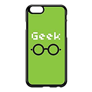 Geek Black Hard Plastic Case for iPhone 6 by textGuy + FREE Crystal Clear Screen Protector
