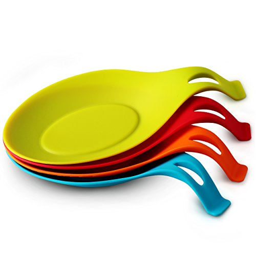 nd-Shaped Silicone Spoon Rest - 4-pack ()