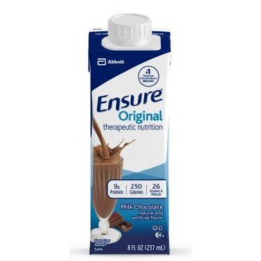 Ensure Original Therapeutic Nutrition (Formerly Immune Health) (Chocolate) 24-8 Ounce Cartons – 1/Case of 24