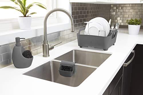 413KRQ52bCL Umbra Tub Geschirr Abtropfgestell – Abtropfkorb mit integriertem Tropfwasserabfluß für Ihre Spüle oder Arbeitsfläche in…