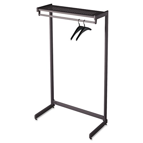 Quartet One-Shelf Garment Rack, Freestanding, 36 Inch, Black (20213)