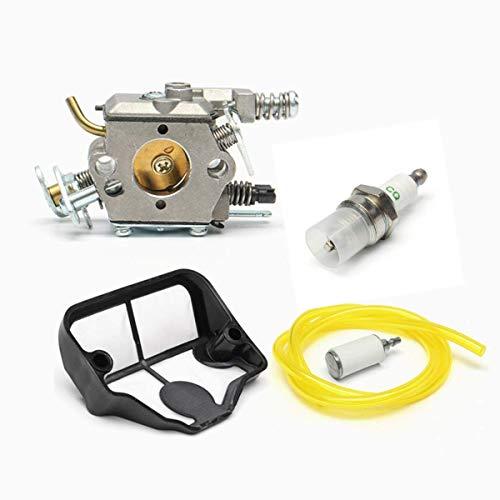 Casavidas Carburetor Air Fuel Filter Line Kit for Husqvarna 36 41 136 137 141 142 Chain Saw