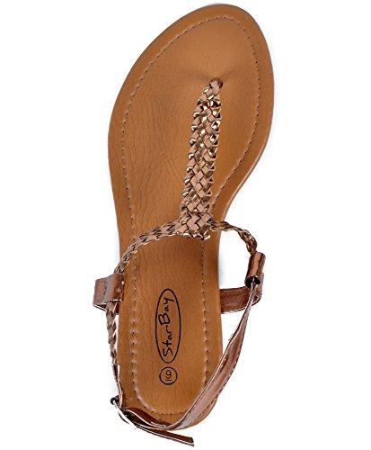 Dames Elegante Mode Sandalen Brons