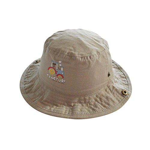 Toddler Floppy Hat kids Sun Hat with Chin Strap Unisex Baby Sun Protection Hat (6 - 18 Months, Cars)