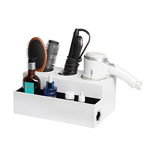 Hair Dryer Holder Hair Styling Product Care Tool Organizer Bathroom Vanity Countertop