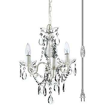 Leila black clear swag plug in chandelier amazon the original gypsy color 3 light mini plug in crystal chandelier for h16 w13 aloadofball Images