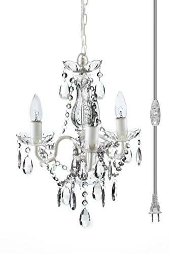 mini chandelier white - 3
