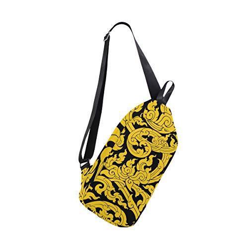 Bennigiry Bags Shoulder One Women Art Thai Chest For Men Tree Leave Crossbody Sling amp; Bag Backpack rqxFrwaXT
