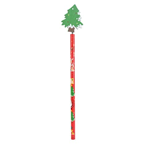 Regali Di Natale In Legno.12pcs Matite Di Legno Di Natale Cartoon Bambini Regali Di Natale